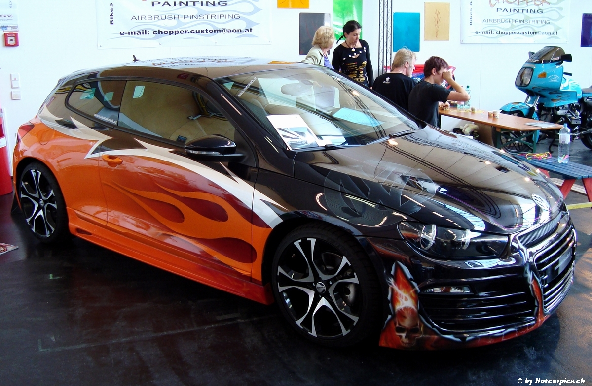 2012 model vw scirocco tuning edition with carbon hood